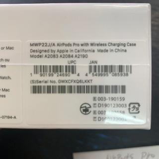 新品 未開封 Apple airpods pro エアーポッズプロ GWXCFXQ6LKKT - 宜野湾市