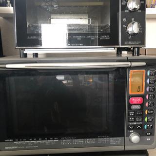 オーブントースターと電子オーブンレンジのセット