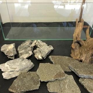 水槽 レイアウト用 流木、石