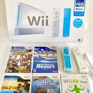 【ソフト5本付き!】Wii 本体 Sports Resort ス...