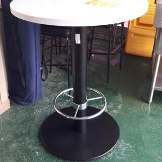 ID:G924771 カウンターテーブル(丸)白