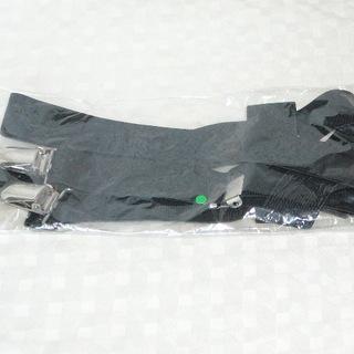 新品 サスペンダー 黒 ブラック Y型