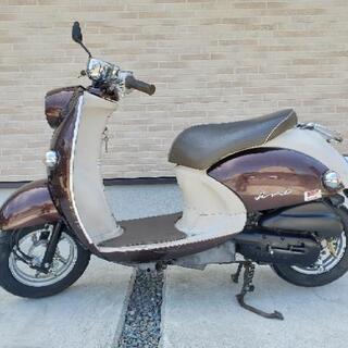 実働!YAMAHA ビーノ 50CC 原付バイク スクーター茶色