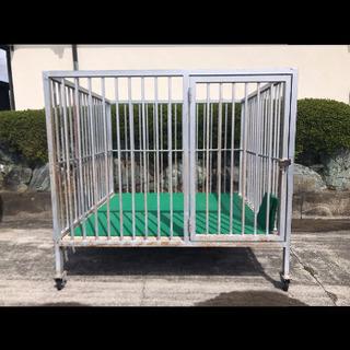 犬小屋 鉄製 キャスター付き 200×200