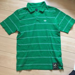 美品 adidas ポロシャツ M グリーン