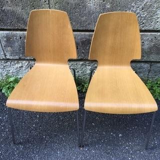 緊急募集‼️ 美品 IKEA椅子2脚セット① 目立つ傷なし