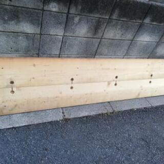 値下げ カウンター、看板用木材