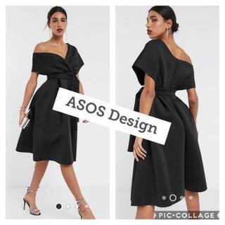 【ASOS】ブラック リボンドレス【新品タグ付き】