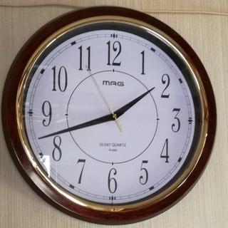 掛け時計 MAG 非電波 アナログ 直径33cm 連続秒針