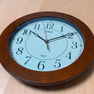 CASIO 掛け時計 ウォール時計 ブラウン 茶色 シンプル ウォッチ