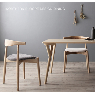 北欧ダイニングテーブル・チェアの画像