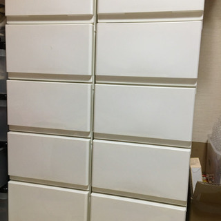 取引中 5段ボックス2個セット 美品 白