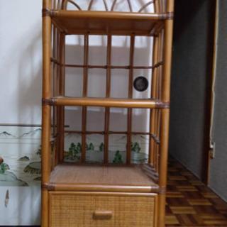 藤の飾り棚 整理棚