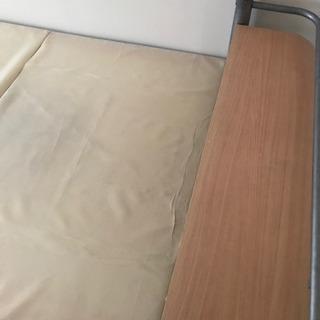 シングルサイズ デスク付きベッド  運びやすいタイプ
