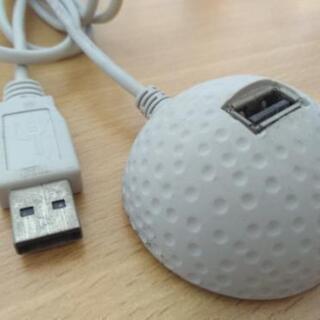 USBハブ ゴルフボール型