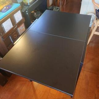 IKEA スチールテーブル 天板ベニア