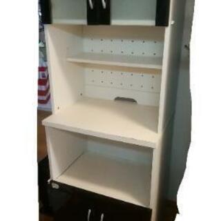 食器棚 黒 キッチンラック