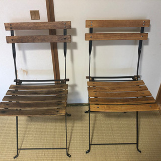 ベランダとか庭で使う椅子