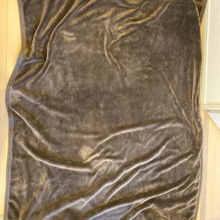 無印良品 起毛毛布 シングルサイズ ダークブラウン