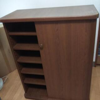 決まりました シューズラック シューズボックス 6段靴箱 半扉付き 家具の画像