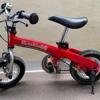 へんしんバイクS 赤 スタンド付き