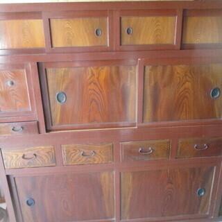 金沢水屋 水屋箪笥 木製 お店用のディスプレイとしても 飾り棚