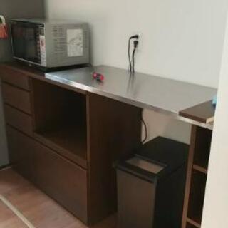 引き取り希望 スライド伸長式キッチンカウンター