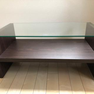 Francfranc のガラスローテーブル