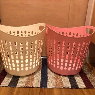 【お洒落収納バスケット3つ】プラスチックと籐 お安く譲ります!