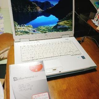 富士通 ノートパソコン Windows10 Office付 整備...