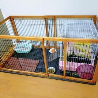 室内用犬の木製ケージ