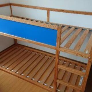 IKEA KURA 二段ベッド すのこ、テント付き