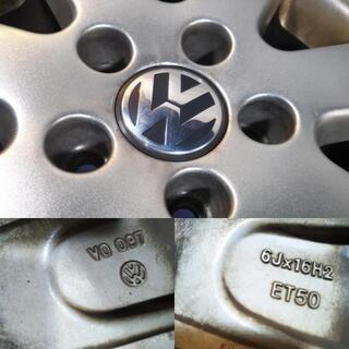 VW純正 ワーゲン純正 ゴルフ プラス ヴァリアント ジェッタ トゥーラン 16インチ +50 PCD112【富山/手渡しもOK】VW ワーゲン オプション 中古4本 アウディ − 富山県