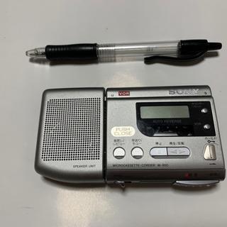 SONYマイクロカセットレコーダー