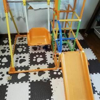 アンパンマン ジャングルジム&すべり台&ブランコ&鉄棒