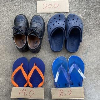 子供用サンダルと革靴もどき 18cmから20cm