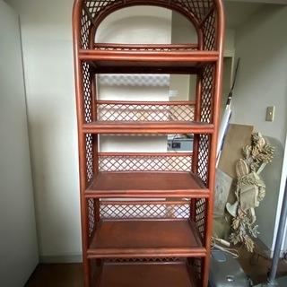 籐素材 棚 5段 西武百貨店池袋購入 一軒家玄関