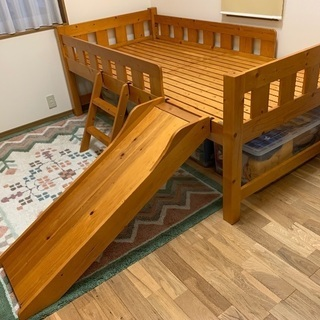 決まりました。【再掲載】シングルベッド・すべり台・階段付き