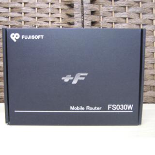 FUJISOFT 富士ソフト +F モバイルルーター FS030...