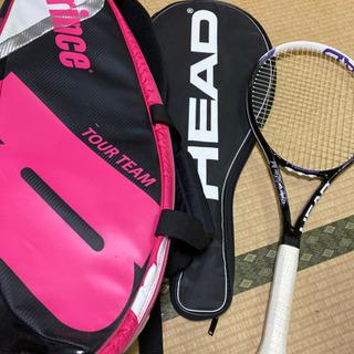 prince テニスバッグとHEADのテニスラケット、ケース