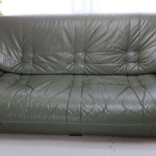 革製3人掛けソファー