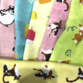 芝犬 犬 猫 アイス柄 ガーゼタオルハンカチ  ほかにもあり