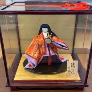 【無料で差し上げます】日本人形 清雅小鼓 明玉作 和楽器 ガラスケース付き