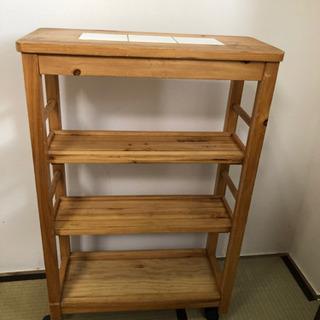木製スリムキッチンラック 5月28日迄に引取り希望