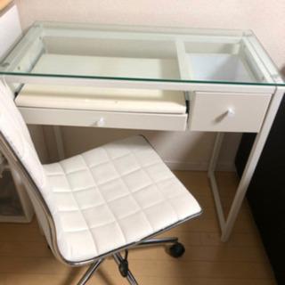 ガラステーブル ホワイト