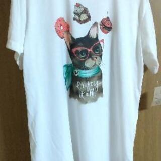 新品未使用  猫柄Tシャツ