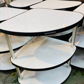 白 サイドテーブル 4つ