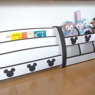 【交渉中】絵本棚 おもちゃ棚 セット ミッキー ディズニー 子供家具 シェルフ 本棚 おもちゃ箱 - 那覇市