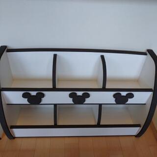 【交渉中】絵本棚 おもちゃ棚 セット ミッキー ディズニー 子供家具 シェルフ 本棚 おもちゃ箱 - 売ります・あげます