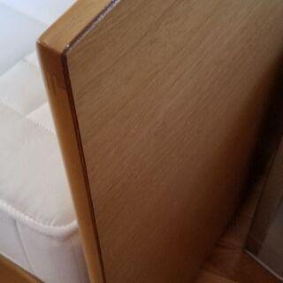 カリモク セミダブルベッドのフレーム マット
